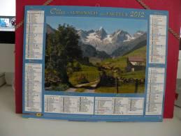 Paysages De Montagne - Calendrier Almanach Du Facteur - Oller 2012 ( Comme Neuf ) - Calendriers
