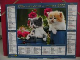 Les Chatons - Calendrier Almanach Du Facteur - Oller 2012 ( Tous Comme Neuf ) - Calendriers