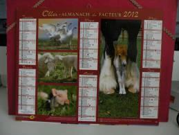 Les Animaux De La Ferme - Calendrier Almanach Du Facteur - Oller 2012 ( Tous Comme Neuf ) - Calendriers