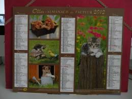 Nos Amis - Calendrier Almanach Du Facteur - Oller 2012 ( Tous Comme Neuf ) - Calendriers