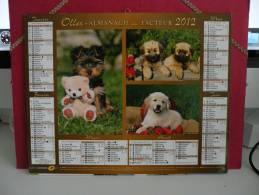 Nos Amis Les Chiens - Calendrier Almanach Du Facteur - Oller 2012 ( Tous Comme Neuf ) - Calendriers