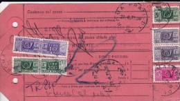 ITALIE - 1973 - RARE CARTE COLIS POSTAUX REFUSE => RETOUR à L´ENVOYEUR - 1946-.. République