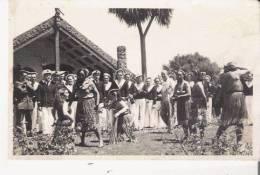 ROTORUA (NOUVELLE ZELANDE ILE DU NORD) ? CARTE PHOTO MARINS ET HABITANTS DE L'ILE - Nouvelle-Zélande