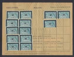 FISCAUX Retraite N° 44  Maladie X 13 Sur Carte Compléte 3 TR 1932 SUP Et Spectaculaire - Fiscaux