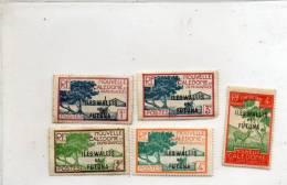 - 5 Timbres ILES WALLIS Et FUTUNA Sur Charnière, Le 3c, 1 Coin Arrondi -