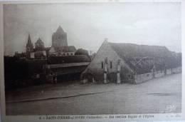 SAINT PIERRE SUR DIVES - 4 - Les Vieilles Halles Et L'église - G Artaud éditeur - L W 1352 - Dives