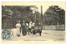 CPa 75 Paris Jardin D'acclimatation Animé Voiture à Chèvres - Parcs, Jardins