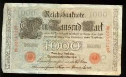 21 Avril 1910  1000 Mark   Bon état - 1000 Mark