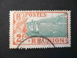 Réunion 1907-17 Ste Rose Et Volcan 2 F. Rouge Et Vert N° 70 Oblitéré - Réunion (1852-1975)