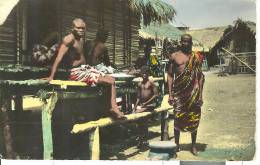 AF026 - Scene De Vie Dans Une Cité Lacustre - Ghana - Gold Coast