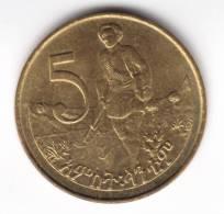 @Y@  Ethiopie 5 Cents 1977    (C419) - Ethiopie