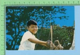 Vietnam  Oeuvre Missionnaire Des Enfants  ( Enfant En Bicyclette ) Post Card Carte Postale - Viêt-Nam