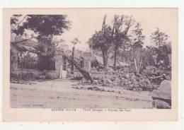 GUERRE 1914-18 - TAUX - RUINES DE TAUX - - France