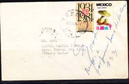 A)1984 MEXICO TONALA TO MEXICO D.F. COVER WITH TB SEAL TOPIC MUSHROOMS AND BOOKS - Mexico