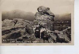 NIÑO EN UN BURRO JUNTO A EL ZAPATO  CAPILLA DEL MONTE  CORDOBA AÑO 1944   OHL