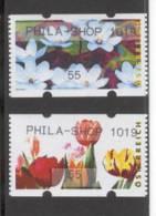 AUSTRIA 2009 Phila-Shop 1019, Tulips & Waterlilies, Vending Machine Pair - Machine Stamps (ATM)