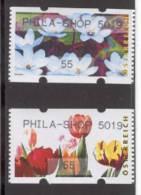 AUSTRIA 2009 Phila-Shop 5019, Tulips & Waterlilies, Vending Machine Pair - Machine Stamps (ATM)