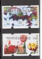 AUSTRIA 2009 Marke & Munze 09, Tulips & Waterlilies, Vending Machine Pair - Machine Stamps (ATM)