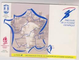 CPM PARCOURS DE LA FLAMME OLYMPIQUE , JEUX OLYMPIQUESALBERTVILLE En 1991/92 - Cartes Postales