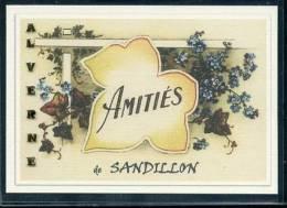 45  SANDILLON  ..  ..... Souvenir Au Fusain Creation Moderne Série Limitée Et Numerotée 1 à 10 ... N° 2/10 - France