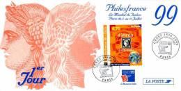 FRANCE Carte 1er J Yvert N° 3258 PHILEXFRANCE 99obl 2/7/99 - Sonstige