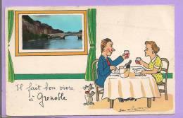 Il Fait Bon Vivre à Grenoble - Illustrateur Jean De Preissac - Oblitérée En 1956 - Preissac