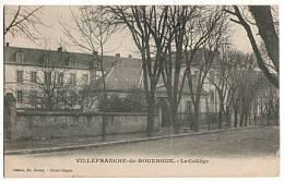 CPA 12 VILLEFRANCHE DE ROUERGUE - Le College - Villefranche De Rouergue