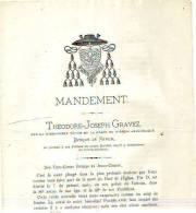 Namur - 1878 - Religion - Lettre Pastorale - Théodore-Joseph Gravez, évêque De Namur - Oude Documenten