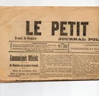 Vendredi 12 Novembre 1915 - Journaux - Quotidiens