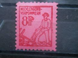 MECKLENBURG-VORPOMMERN, 1945, MNH 8pf, Plowman, Scott 12N4 - [6] Democratic Republic