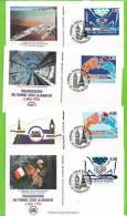 N° 2880/83 : TUNNEL SOUS LA MANCHE En 4 Env. 1er Jour EUROTUNNEL-COQUELLES - 1990-1999