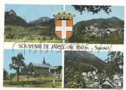 Jarsy (73) : 4 Vues Avec Blason Du Bourg En 1960. - Sonstige Gemeinden