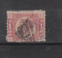 GB 1850 - 1870 1/2d Red Plate 12 Used.  [paper Adhesion] - 1840-1901 (Viktoria)