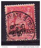 Levant N° 5a Oblitéré - TP Avec Surcharge En Bas - Pli En Coin - Cote 33€ - Levant (1885-1946)