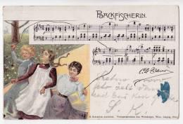 OPERA BACKFISCHERLN JOS. WEINBERGER WIEN, LEIPZIG, PARIS Nr. 3 OLD POSTCARD - Opera