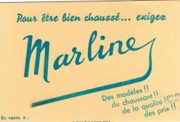 Buvard  CHAUSSURES   MARLINE  ( écrit  En  Bleu ) - Buvards, Protège-cahiers Illustrés