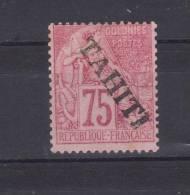 N° 17 Neuf Avec Trace Charnière 75 C - Tahiti (1882-1915)
