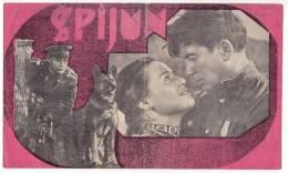 "PROGRAMS FILM ""SPY"" SOVIET FILM ACTOR A. KOCETKOV DISTRIBUTED BY CROATIA FILM SIZE 24X14,5 CM - Programs"