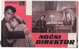 "PROGRAMS FILM ""NIGHT MANAGER"" SOVIET FILM ACTOR S. LUKANOV DISTRIBUTED BY CROATIA FILM SIZE 24,5X15 CM - Programs"