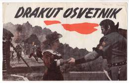 "PROGRAMS FILM ""DRAKUT AVENGER"" ITALY FILM ACTOR BURT NELSON DISTRIBUTED BY CROATIA FILM SIZE 24,5X15,5 CM - Programs"