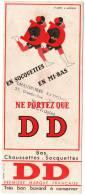 Buvard  Bas, Socquettes, Chaussettes  D D  Déssin  D´ Après  L . LADOUD - Buvards, Protège-cahiers Illustrés
