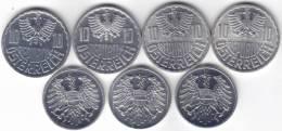 @Y@   Lot OOSTENRIJK 10 Gr. 1976 - 1971 - 1973 - 1977 / 2 Gr 1964 - 1971 - 1976 - Austria