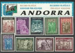 ANDORRA- LOTE DE TRES SERIES  SELLOS DE PINTURA SIN FIJASELLOS - Nuevos