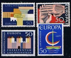 Liechtenstein Michel # 418, 431, 444 Und 469 ** Eupropamarken 1962 - 64 + 1966 - Liechtenstein