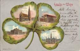 6063 - Gruss Aus Wien  Trèfle à Quatre Feuilles Carte Taxée Pour Genève En 1900 - Vienne