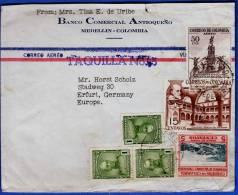 KOLUMBIEN, LP-Brief 1953 Mit Sehr Schöner 6 Fach Frankierung - Colombia