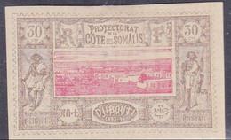 COTE DES SOMALIS - YVERT N° 13 * - COTE = 25 EUR. - Côte Française Des Somalis (1894-1967)