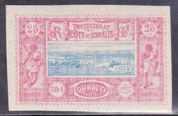 COTE DES SOMALIS - YVERT N° 12 * - COTE = 37 EUR. - Côte Française Des Somalis (1894-1967)