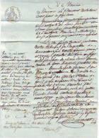 Manuscrit Reçu Quittance Saint Claude Jura Du 10 Mars 1809 - Manuscrits