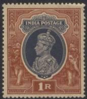British Inde India 1937 MNH S.G 259 King George VI, One Rupee - 1936-47 King George VI